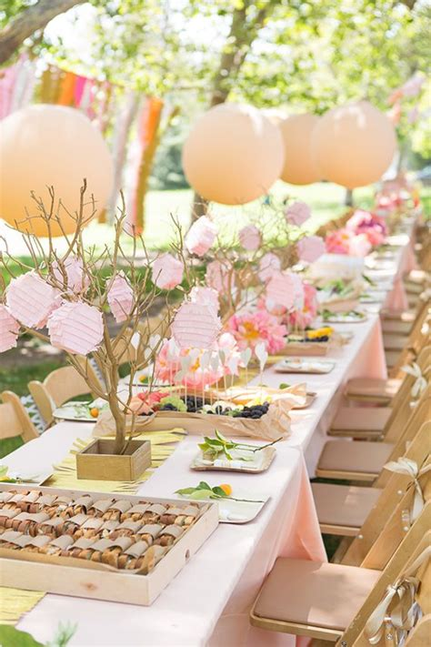 6 Spring Baby Shower Themes Picnic birthday Outdoor