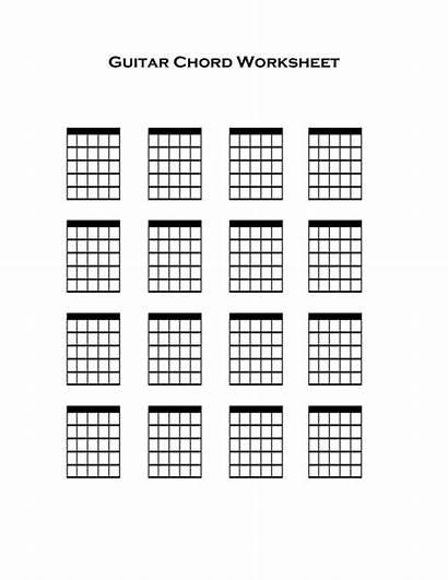 Guitar Chord Chart Chords Blank Charts Tab