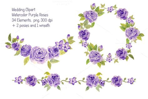 liberty flowers purple border clipart free clipart