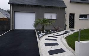projet d39amenagement d39allee pietonne en alveostarr et With amenager une terrasse exterieure 10 le jardin paysager tendance moderne de jardinage