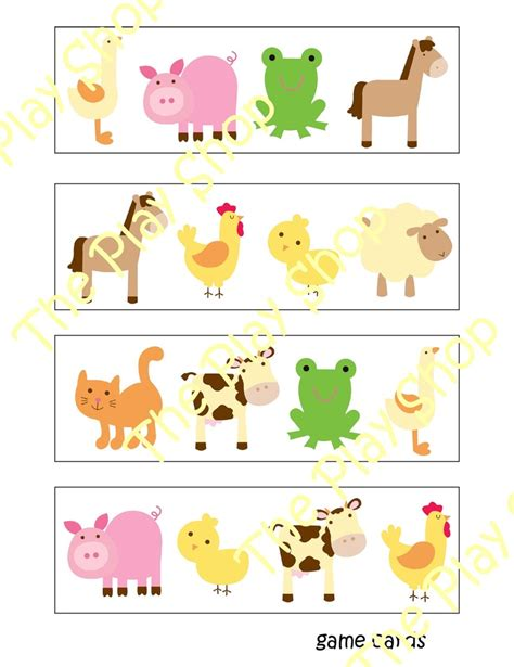 preschool farm animal bingo i could totally make this