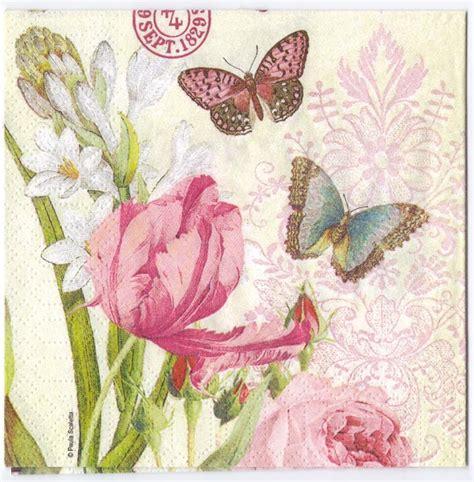 decoupage paper  flowers  butterflies napkin chiarotino