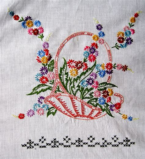 embroidery designs for vintage embroidered baskets quilt top q is for quilter
