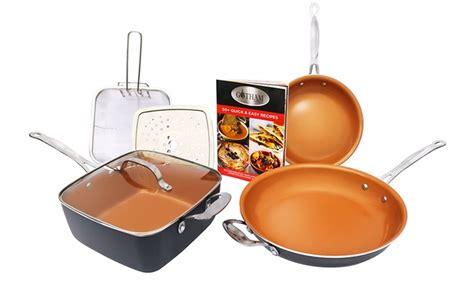 gotham steel cookware set  pc groupon goods