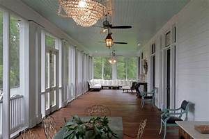 Fan Sun Line T : wide back screened porch with blue ceiling unique screened back porches pinterest ~ Frokenaadalensverden.com Haus und Dekorationen