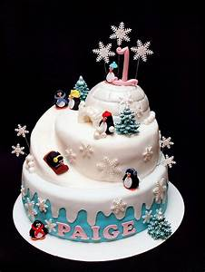 Penguin, Party, -, Cake, By, Stuckonthefarm