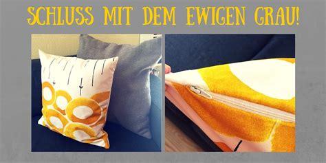 Kissenbezug Nähen Mit Reißverschluss by Handarbeiten Mit Isar Mami Diy