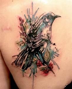 40+ Abstract Bird Tattoos