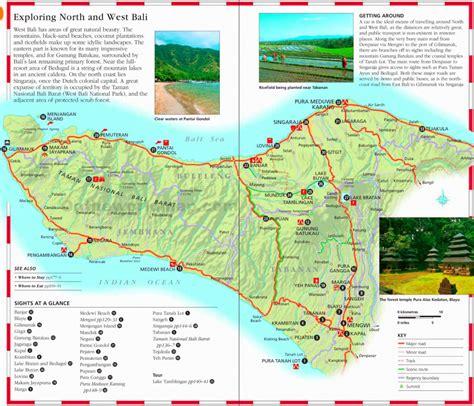 printable map  bali printable maps