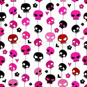 Cute Pink Skull | Collection 11+ Wallpapers