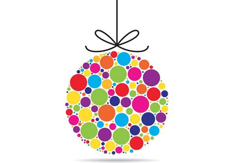 colorful xmas ornament vector download free vector art