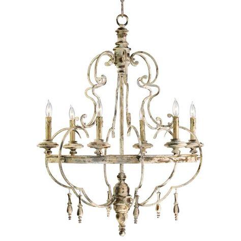 the chandelier da vinci 6 light country antique ivory chandelier