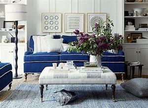 Blue slipcover sofa blue twill sofa slipcover reviews for King furniture slipcovers