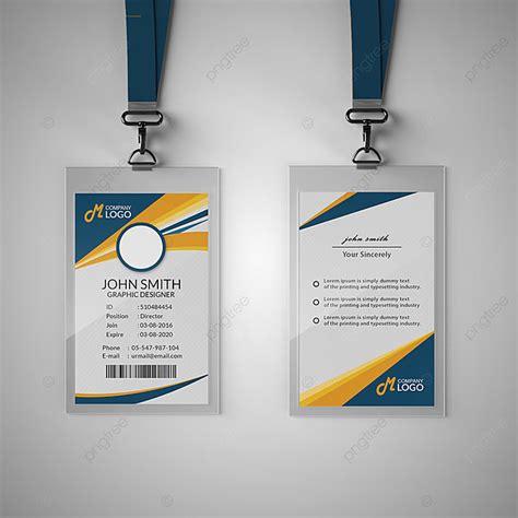 modern blue  yellow id card template template