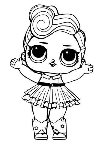 lol doll luxe coloring page  printable coloring pages