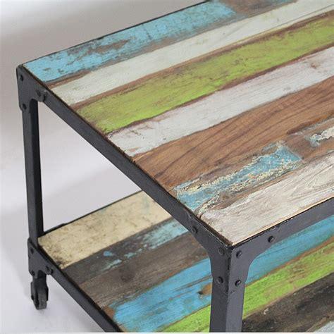 plateau canapé table basse bois métal plateau coloré made in meubles