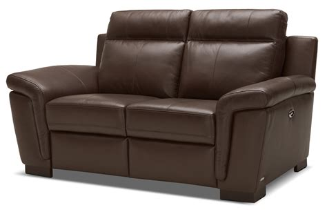 Power Reclining Loveseat by Seth Genuine Leather Power Reclining Loveseat Mahogany