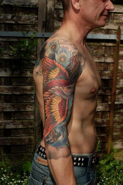 shoulder arm fantasy phoenix tattoo  shane tan