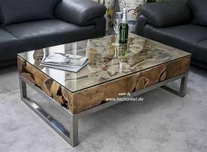 Couchtisch Mit Glasplatte : couchtisch aus altholz mit edelstahl und glas der tischonkel ~ Whattoseeinmadrid.com Haus und Dekorationen
