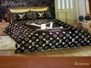 lv louis vuitton satin bedding set our home pinterest