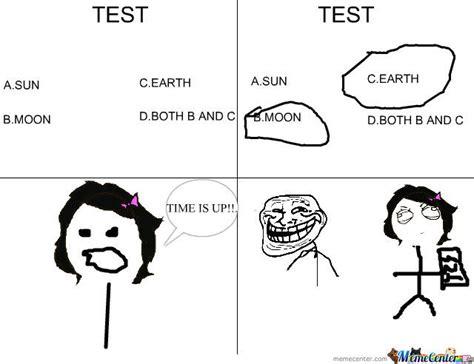 Test Taking Meme - taking a test by feebee meme center