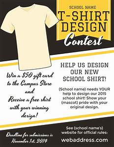t shirt design contest maketing flyers inksoft With t shirt design contest template