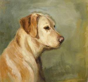 Original Oil Painting Yellow Lab Dog Painting One Of A ...