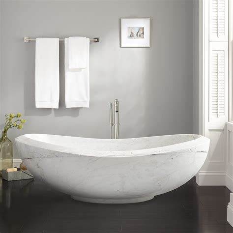 marble tubs 72 quot lucius polished moon white marble tub bathroom