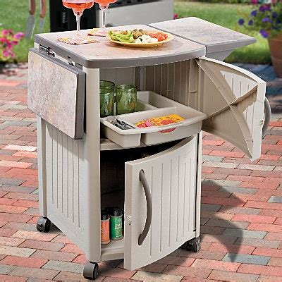 Suncast Patio Storage And Prep Station Bmps6400 by Suncast Food Prep Station Minis Grill Station And Food Prep