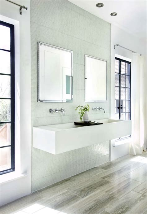 floating double sink contemporary bathroom hammersmith
