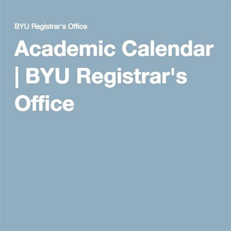 byu academic calendar winter spring fall summer