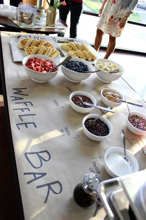 Love The Waffle Bar Idea Could To General Brunch Theme