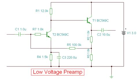 Low Voltage Preamplifier Circuit Diagram World