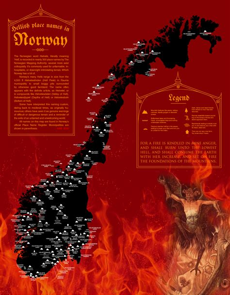 places  norway literally named  hell brilliant maps