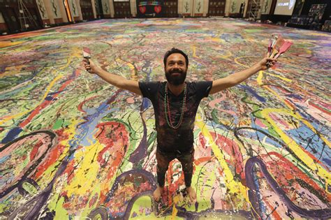 Artwork from world's largest canvas painting by British ...