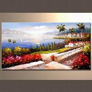 Peinture à L Huile Mur : wall moderne oil painting de landscape wall moderne oil ~ Premium-room.com Idées de Décoration