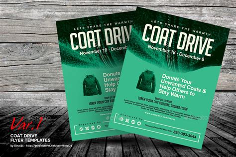drive templates coat drive flyer templates by kinzi21 graphicriver