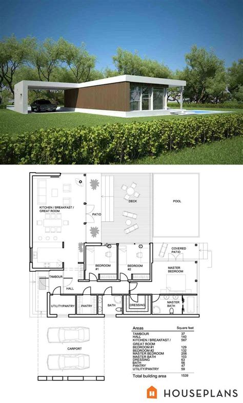Zweifamilienhaus Grundriss Modern by Small Modern House Plan And Elevation 1500sft Plan 552 2