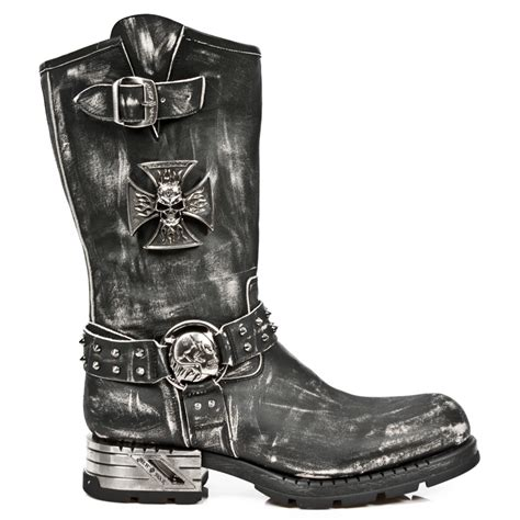 new motorcycle boots vintage rub leather motorcycle boots w iron cross