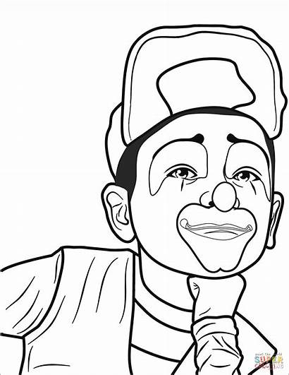 Clown Coloring Pages Printable Circus Puzzle Drawing