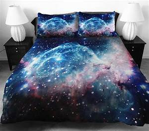 These Galaxy Bedding Turns Your Bed Into a Space Station