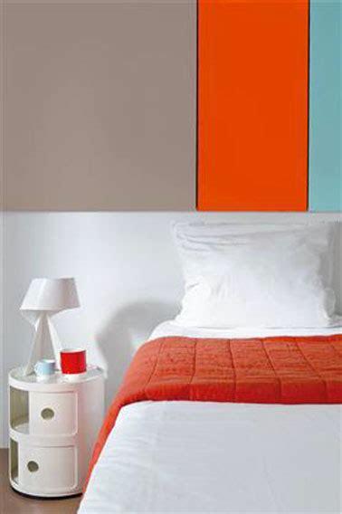 chambre couleur gris couleur peinture chambre gris taupe et tangerine