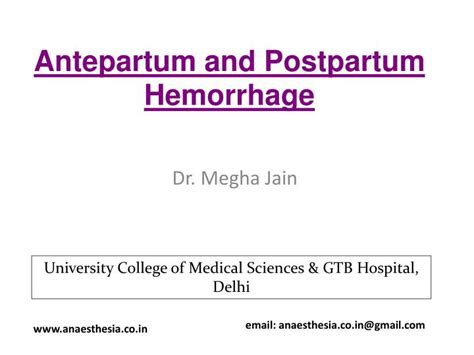 PPT - Antepartum and Postpartum Hemorrhage PowerPoint ...