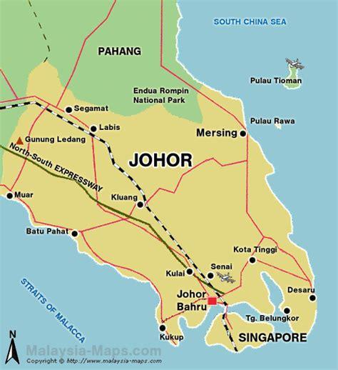 johor map map  johor  malaysia maps