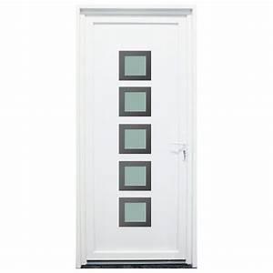 Porte D Entrée Blanche : porte d 39 entr e pvc somme blanche 200x80cm gauche ~ Melissatoandfro.com Idées de Décoration