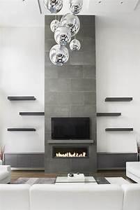concrete fireplace surround in toronto contemporary
