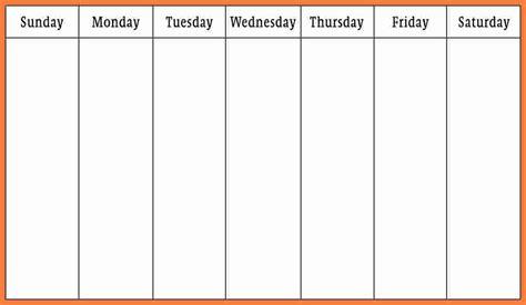 weekly calendar template word marital settlements