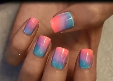 Ombre Nails Art At Home (easiest And Pretty