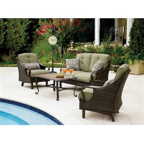 ventura 4 wicker patio conversation furniture set