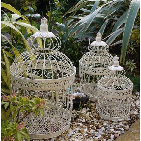 ornate bird cage set of 3 the garden factory